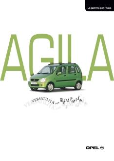 2001 | Opel Agila Brochure (Agency: Media Consultants - Roma)