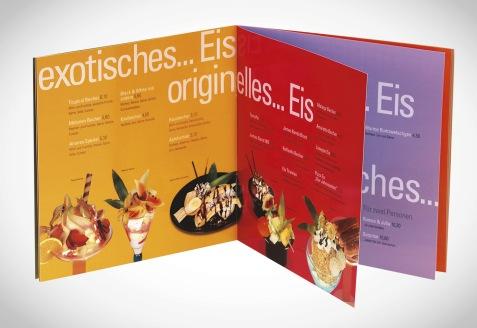 2001 | Stadtcafé Ice cream Menu